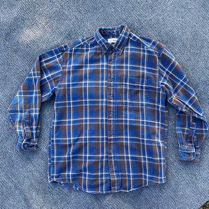 Vintage LL Bean Plaid Denim Flannel